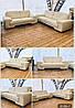 """Белый кожаный трёхместный диван «Самсон"""", фото 3"""