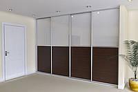 Двери для шкафа-купе ДСП+ матовое стекло