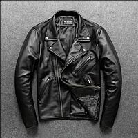 Мужская короткая кожаная куртка. (5110), фото 1