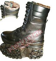 Ботинки зима с высокими берцами 'подушка' нат. мех