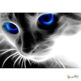 "Алмазна мозаїка ""Блакитноока кішка"", 30*40 см, з рамкою, в кор. 41*31*2,5 см"