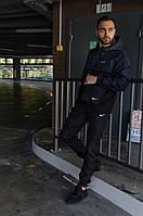 Комплект мужской спортивный, анорак ветровка President сине-черный + штаны President + в подарок барсетка