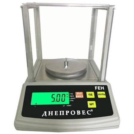 Лабораторні ваги Днепровес FEH (600 г), фото 2