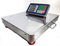 Весы торговые электронные беспроводные WI-FI с нержавеющей стали 350 кг 40x50 см CROWNBERG
