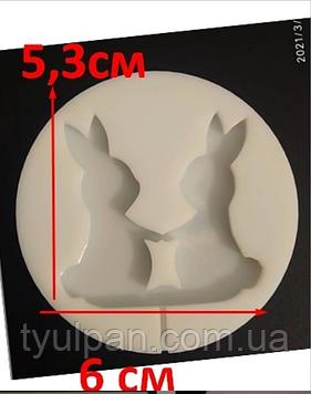 2D Форма силиконовая кролики молд для изомальта леденцов шоколада