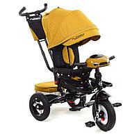Дитячий триколісний велосипед візочного типу з функцією повороту сидіння TURBOTRIKE M 4060HA-24 гірчичний