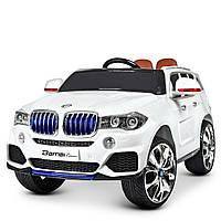 Дитячий електромобіль BMW (БМВ) X5 з шкіряним сидінням M 2762(MP4)EBLR-1 білий
