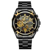 Наручные часы Forsining 8130 Black-Gold-Black