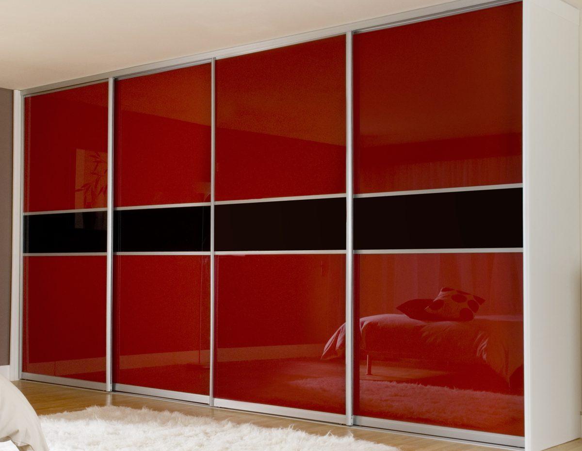 Раздвижные двери с цветным стеклом глянец