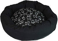 Диван для животного NELSON, круглый, черный, 60см