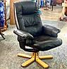 """Шкіряне крісло для офісу з Німеччини «Моріс"""", фото 2"""