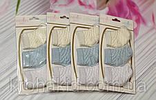 Набор носочков для новорожденного на планшетке (Турция)  - 3 шт / носочки для самых маленьких, фото 3