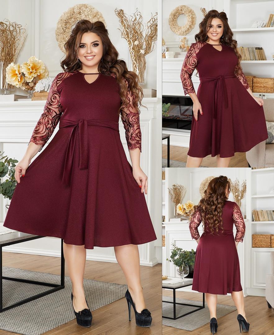 Женское платье большого размера 3247 (ЮЭ)