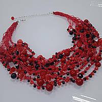 Красные бусы ручной работы в этно стиле, авторские бусы к вышиванке для детей и взрослых