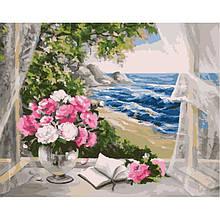"""Картина за номерами. Букет """"Біля моря"""" 40х50см KHO2072"""