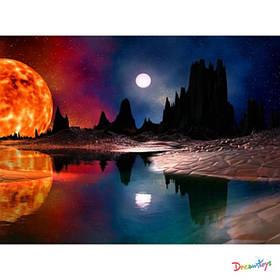 """Алмазна мозаїка """"Червоний місяць"""", 30*40 см, з рамкою, в кор. 41*31*2,5 см"""