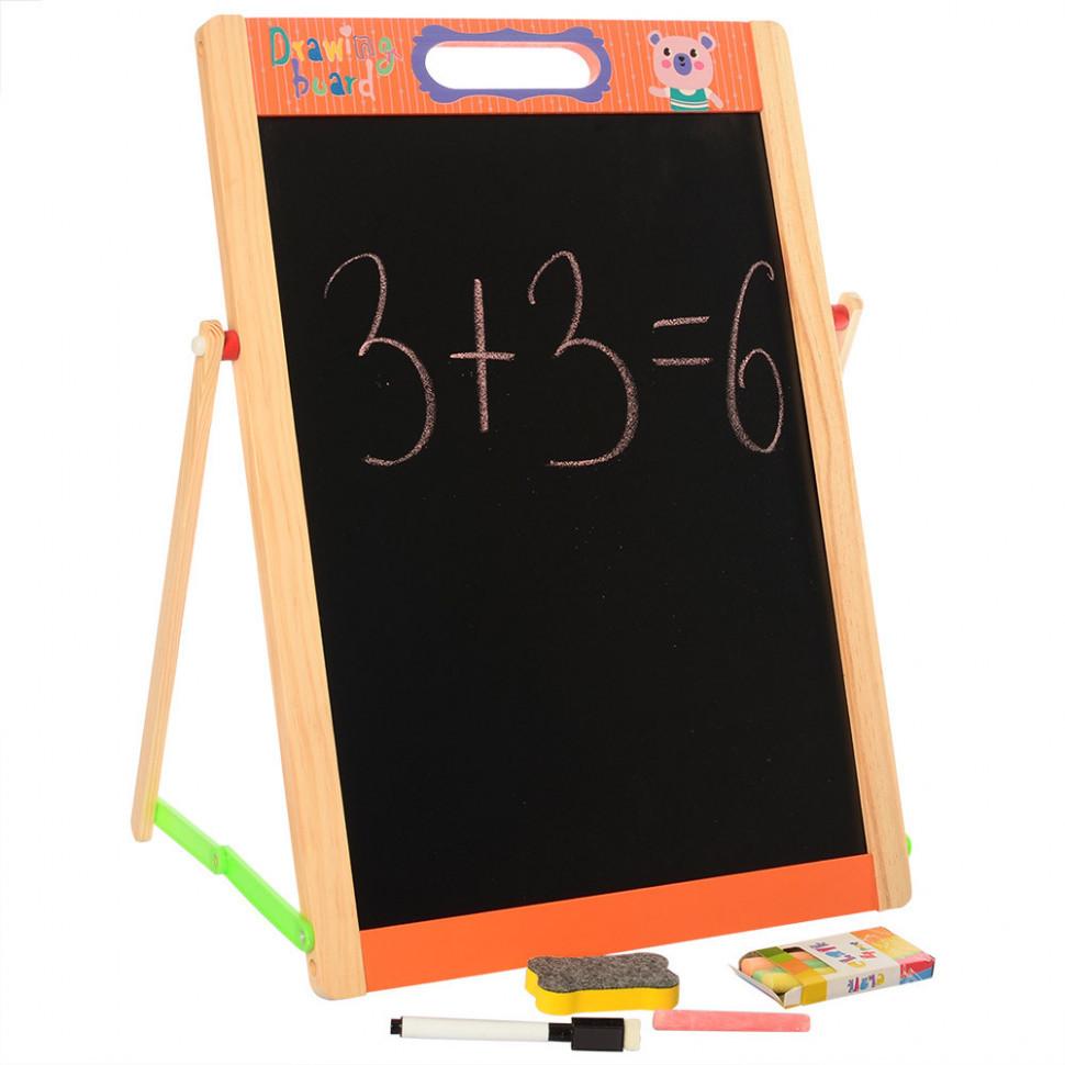 Деревянная игрушка Мольберт MD 2140 (Оранжевый)