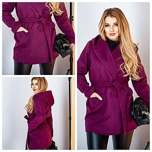Женское пальто больших размеров 4184 (ЮЭ)
