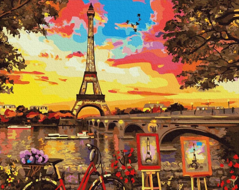 """Картина по номерам. Rainbow Art """"Живописный уголок в Париже"""" GX32613-RA"""