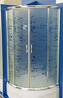 Душевая кабина полукруглая BADICO SAN 1001 Tatiana 100х100х195 с поддоном и сифоном