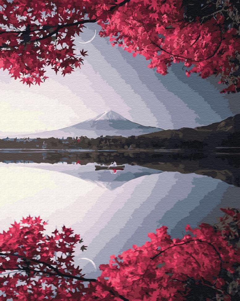 """Картина за номерами. Brushme """"Вечір у горі Фудзі"""" GX32325"""
