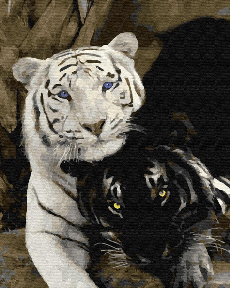 "Картина по номерам. Brushme ""Пара тигров"" GX29792"