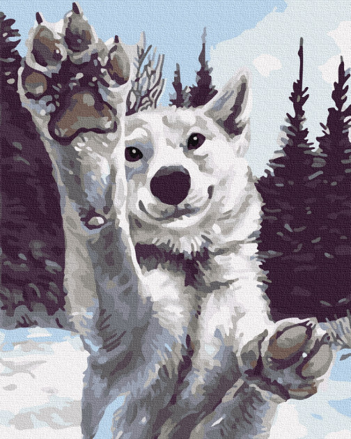 "Картина по номерам. Brushme ""Снежный хаски"" GX31016"