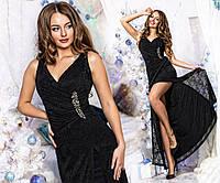Женское вечернее платье (черное)