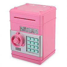 Скарбничка-сейф MK 4524 з кодом (Pink)