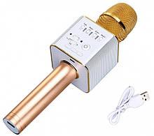 Мікрофон для караоке Q9 (Золотий)