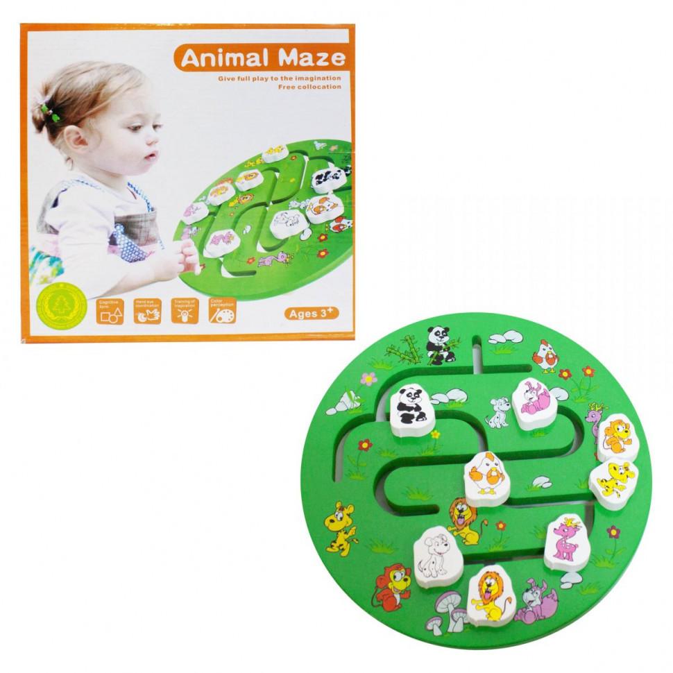 Дерев'яна іграшка Лабіринт MD 2172 (англ) (Тварини(англ))