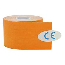 Кинезиологический тейп, кинезио тейп 5cм*5м 🍓 Оранжевый