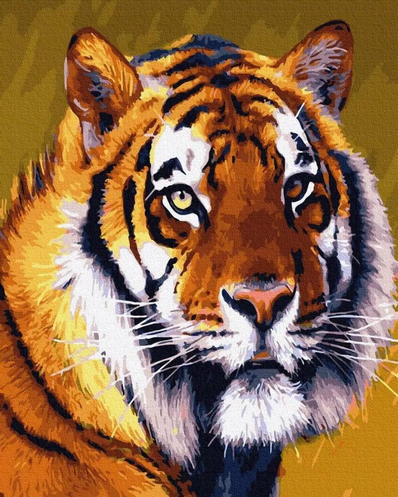 """Картина за номерами. Rainbow Art """"Тигр"""" GX30661-RA"""