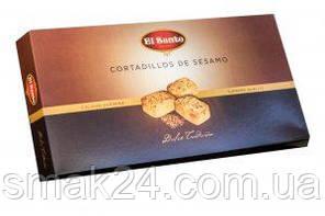 Печенье с миндальной мукой,с кунжутом El Santo Cortadillos de Sezamo 150г Испания