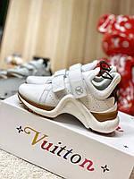 Белые кроссовки Луи Виттон Louis Vuitton Archlight white кожа кожаные LV с Арчлат Луи Витон сникерсы 2021