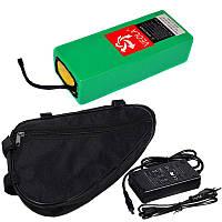 Аккумуляторная батарея 36В 10Aч литиевая (в термоусадке), сумка и ЗУ, фото 1