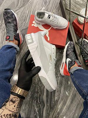 Женские Puma Cali, серого цвета, кроссовки Пума Кали, женская обувь весна/лето