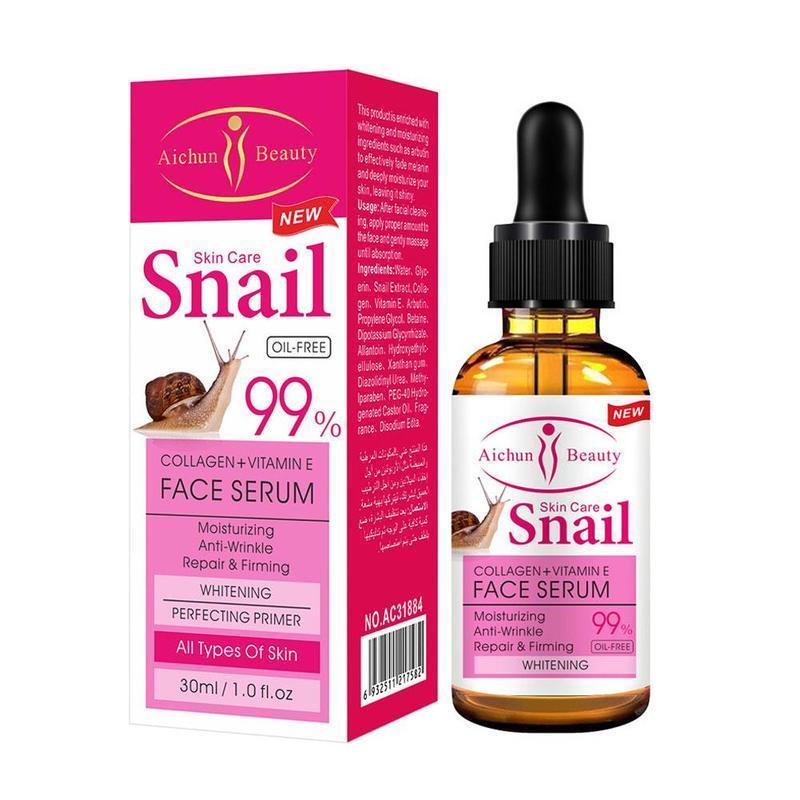 Сироватка для обличчя Aichun Beauty Snail 99 % з колагеном і вітаміном Е, 30 мл