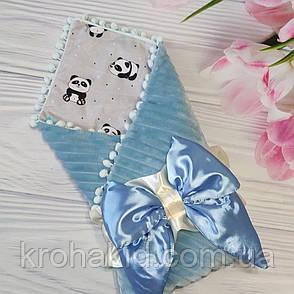 """Детский демисезонный конверт на выписку """"Бубон"""", конверт-одеяло (ВЕСНА/ОСЕНЬ), конверт-плед для новорожденного, фото 2"""