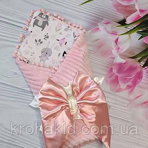 """Дитячий демісезонний конверт на виписку """"Бубон"""", конверт-ковдру (ВЕСНА/ОСІНЬ), конверт-ковдру для новонародженого, фото 2"""