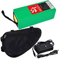 Акумуляторна батарея 36В 10Aч літієва (в термоусадці), сумка і ЗП, фото 1