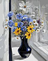 Картина по номерам 40*50 см Полевые цветы