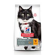 HILL'S SCIENCE PLAN Mature Sterilised Cat Корм для Котов с Курицей - 0,3 кг