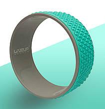 Колесо для йоги и фитнеса Yoga Ring кольцо для йоги бирюзового цвета 30х13
