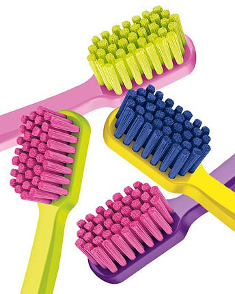 Зубная щетка Curaprox CS 5460 Ultra Soft, d 0,10 мм 11 Зубная щетка розовая/щетина зеленый лайм, фото 2