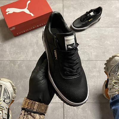 Женские Puma Cali, черного цвета, кроссовки Пума Кали, женская обувь весна/лето 37