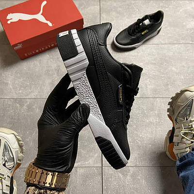 Женские Puma Cali, черного цвета, кроссовки Пума Кали, женская обувь весна/лето