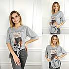 Жіноча футболка oversize, S,M,L (48-50-52) рр, коти, чорний, фото 2