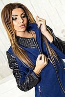 Пальто кашемировое  №028 синее