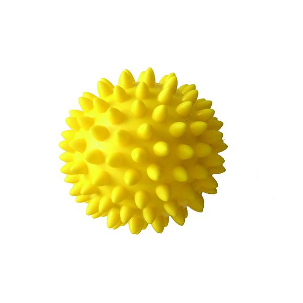 Массажный мяч с шипами Qmed Massage Balls 8 см, жёлтый